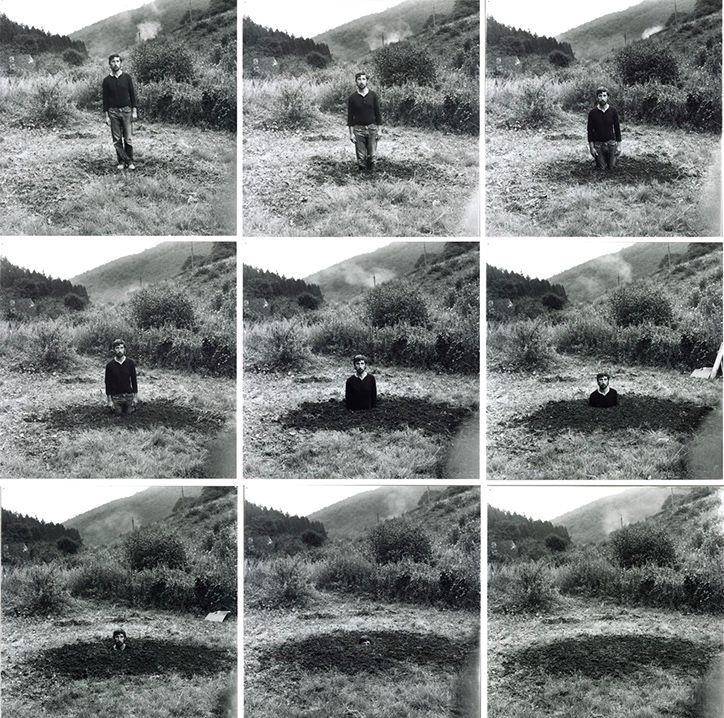 Self-Burial (Television Interference Project), 1969