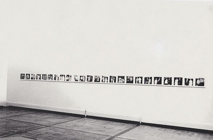 The Visitors, 1974-76, Time, Words & Camera, Kunstlerhaus, Graz, 1976, installation view